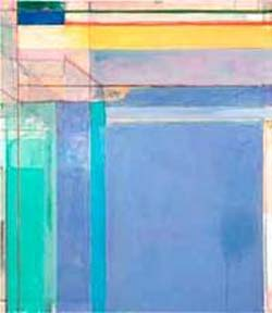 Richard Diebenkorn: <EM>Ocean Park #79</EM>, 1975Oil on canvas, 93 x 81 inchesPhiladelphia Museum of ArtPurchased with a grant from the National Endowment for the Arts and with funds contributed by private donors, 1977©The Richard Diebenkorn FoundationImage courtesy the Philadelphia Museum of Art