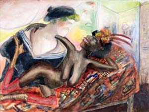 Otto Dix: <EM>Sailor with Black Nude</EM>, Watercolor, 1922 © 2012 Artists Rights Society (ARS), New York / VG Bild-Kunst, Bonn