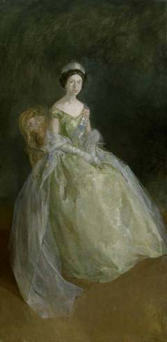 Peter Greenham RA:  <EM>Study for a Portrait of Her Majesty The Queen</EM>, 1964.Oil on canvas© estate of the artist Photo: Royal Academy of Arts, London / Prudence Cuming Associates Ltd