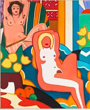 Tom Wesselmann: <EM>Sunset Nude with Matisse Odalisque</EM>, 2003Oil on canvas, 304.8 x 254 cm.The Estate of Tom Wesselmann, New York© Estate of Tom Wesselmann / SODRAC, Montreal / VAGA, New York (2011)Photo: Jeffrey Sturges