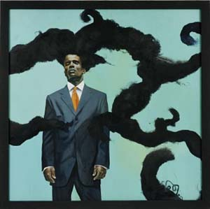 Kehinde Wiley: <EM>Conspicuous Fraud Series #1 (Eminence),</EM> 2001Museum purchase made possible by a gift from Anne Ehrenkran