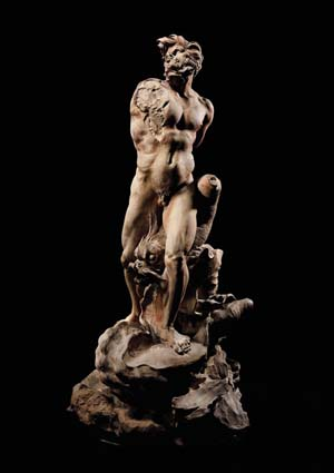 <FONT face=Arial>Gian Lorenzo Bernini, Italian, 1598-1680:Modello for the Moor, 1653Terracotta; 31 3/4 in. (80.5 cm) highKimbell Art Museum, acquired 2003Photo courtesy of Kimbell Art Museum </FONT>