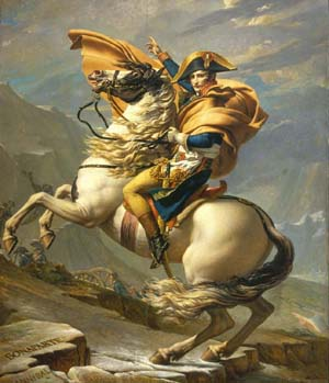 Jacques-Louis David: <EM>Bonaparte Crossing the Alps at Grand-Saint-Bernard</EM>, 1800-1801Musée national des Châteaux de Malmaison et Bois-Préau, Rueil-Malmaison© Réunion des Musées Nationaux