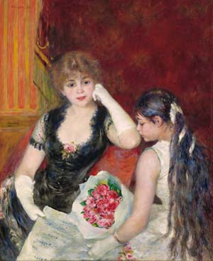 August Renoir: <EM>A Box at the Theater (At the Concert),</EM> 1880© The Sterling and Francine ClarkArt InstituteWilliamstown, MassachusettsUSA