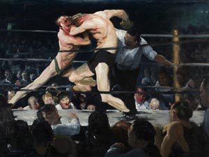 George Bellows (American, 1882–1925): <EM>Stag at Sharkey's</EM>, 1909Oil on canvas; 36 1/4 x 48 1/4 in. (92.1 x 122.6 cm)Cleveland Museum of Art