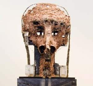Huma Bhabha, <EM>Twins</EM> (detail), 2011Mixed media sculptureCollection Marilyn and Larry Fields, Chicago