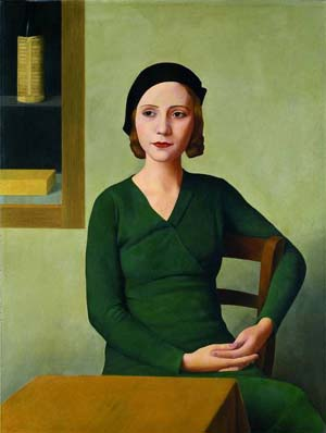 Antonio Donghi (Rome 1897 - Rome 1963): <EM>Woman at the Café</EM>, 1932 Oil on canvas 80 x 60 cm. VeniceFondazione Musei Civici di VeneziaGalleria Internazionale d'Arte Moderna di Ca' Pesaro, inv. 899