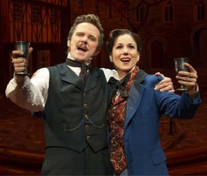 Will Chase and Stephanie J. Block in <EM>The Mystery of Edwin Drood</EM>