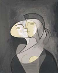 <EM>Marie-Thérèse, Face and Profile </EM>(<EM>Marie-Thérèse, face et profil</EM>)Paris, 1931Oil and charcoal on canvas, 111 x 81 cmPrivate collection © 2012 Estate of Pablo Picasso/Artists Rights Society (ARS), New YorkPhoto: Béatrice Hatala