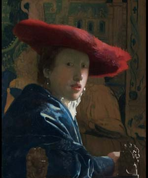 Johannes Vermeer (1632-1675)<EM>Girl with the Red Hat</EM>, 1665-1667Washington, National Gallery of Art, Andrew W. Mellon Collection