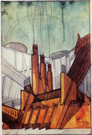 Antonio Sant'Elia: <EM>Power station</EM>, 1914