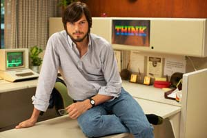<P>Ashton Kutcher plays Steve JobsPhoto: Glen Wilson</P>