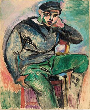 Henri Matisse (1869–1954): <EM>Young Sailor I</EM>, 1906Oil on canvas; 39 1/4 x 32 in. (99.7 x 81.3 cm)Collection of Sheldon H. Solow© 2012 Succession H. Matisse / Artists Rights Society (ARS), New York