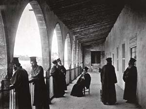 "John Thomson (1837-1921): ""Greek Orthodox monks at the monastery of Saint Panteleimonas"""