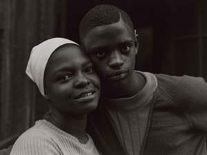 Bruce Davidson:<EM> Untitled</EM>, [Close Up of Boy and Girl with Faces Together]from <EM>East 100th Street</EM> series, 1967–68, printed 1969Museum purchase with funds donated by Haluk and Elisa Soykan and the Ernest Wadsworth Longfellow Fund.