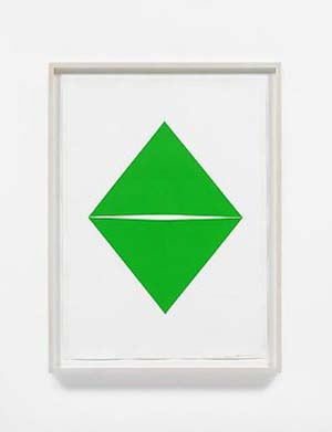 Carmen Herrera:  Untitled, 2012Acrylic and pencil on paper, 70 x 50 cmCourtesy the artist and Lisson Gallery.