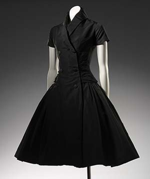 Christian Dior, Paris French est. 1946 Christian Dior(designer) French born 1905 ZelieCocktail dress 1954 spring-summer silk 122.0 cm (centre back); 32.0 cm (waist, flat) National Gallery of Victoria, Melbourne.Purchased NGV Foundation, 2006 © Christian Dior.