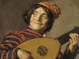 Frans Hals: <EM>Buffoon playing a lute</EM>, ca. 1623-1624Musee du Louvre