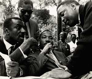 <P class=wp-caption-text>Martin Luther King Jr. in Birmingham, Alabama, in 1965. Reproduction from the Black Star Collection at Ryerson UniversityCourtesy of the Ryerson Image Centre. Photo by Bob Fitch.</P> • <P class=wp-caption-text> </P>