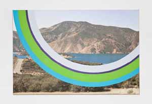 James Hyde: <EM>Away</EM>, 2011Acrylic and urethane paint on paper on archival inkjet print on stretched linen, 43 x 65 inches© James Hyde, courtesy of the artist and Horton Gallery, New York