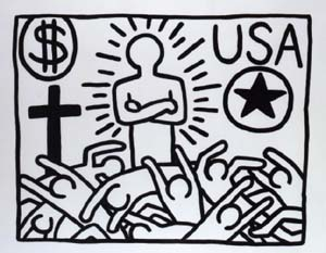 Keith Haring: <EM>Untitled,</EM> 1982, BvB collection Genève © Keith Haring Foundation
