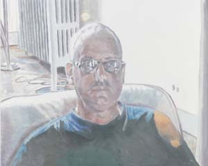 Luc Tuymans: <EM>Me,</EM> 2011.Oil on canvas43 1/2 x 53 5/8 inches (110.4 x 136.3 cm)