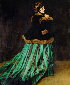 Claude Monet: <EM>Camille </EM>(<EM>The Woman in the Green Dress</EM>), 1866Musée d'Orsay, Paris