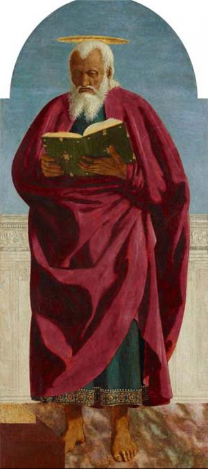 Piero della Francesca: <EM>Saint John the Evangelist</EM>, 1454–69Oil and tempera with traces of gold on poplar panelThe Frick Collection, New York