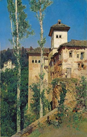 <P>Martín Rico: <EM>The Tower of Las Damas at the Alhambra, Granada</EM>1871Oil on canvas, 63,5 x 40 cmMadrid, Museo Nacional del PradoLegado Ramón de Errazu.</P>