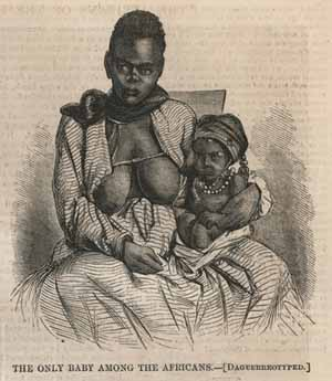 <EM>The Only Baby Among the Africans</EM>, 1860Harpers Weekly NewspaperMel Fisher Maritime Museum Collection.