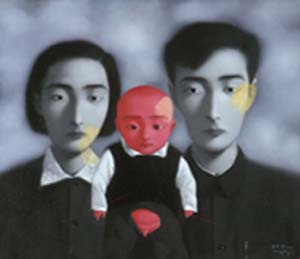 "<P class=""caption set-left"">Zhang Xiaogang: <EM>Bloodline: The Big Family, </EM>1997Collection: Okinawa Prefectural Museum & Art Museum</P>"