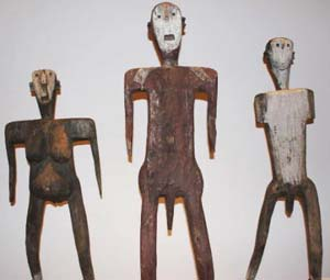 Male Group of Dance FiguresSukuma Wood, pigment, metal132cm, 152.4cm, 142.2cmPrivate collection