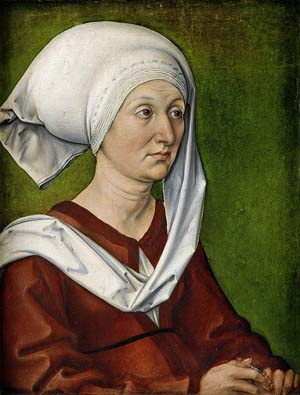 Albrecht Dürer: <EM>Portrait of Barbara Dürer</EM>, geb. Holper, 1490Germanisches Nationalmuseum, NürnbergPhoto: Germanisches Nationalmuseum, Nürnberg