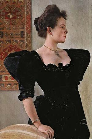 Gustav Klimt: <EM>Lady in Black</EM>, c.1894