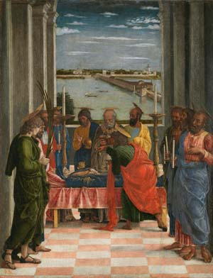 Andrea Mantegna: <EM>The Dormition of the Virgin</EM>, c. 1462Museo Nacional del Prado, Madrid