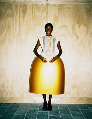 "<SPAN class=pie _extended=""true"">Serena Gili: Discipline Collection, 2012Cashmere top with golden fibre glass skirt.Courtesy of Serena Gili.Photo: Kirill Kuletski for i-D Online.</SPAN><BR _extended=""true"">"