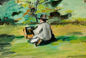 Paul Cézanne: <EM>A Painter at Work</EM>, about 1874-75Oil paint on panel; 9-1/2 x 13-1/2 inLent by Frederic C. Hamilton