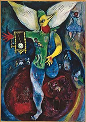 Marc Chagall: <EM>The Juggler</EM>, 1943Oil on canvas43 1/4 x 31 1/8 inPrivate collection