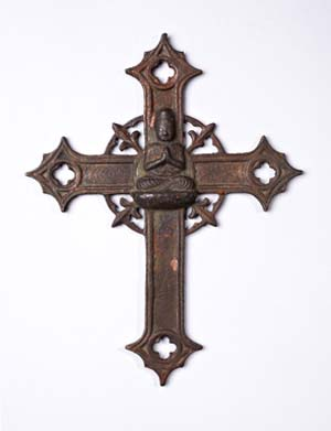 "<SPAN class=pie _extended=""true"">Cross with image of the BuddhaJapan, perhaps late 17th or 18th centuryIron-copper alloy25 x 19.6 cm.</SPAN><BR _extended=""true"">"