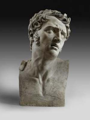 David d'Angers (1788–1856): <EM>La Douleur</EM>, 1811Plaster, 21 ¼ x 12 5/8 x 10 ¼ inches (54 x 32 x 26 cm) Roberta J. M. Olson and Alexander B. V. Johnson