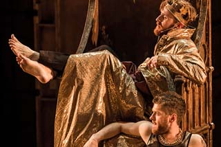 John Heffernan as Edward IIKyle Soller as Gavestonin Christopher Marlowe's Edward II