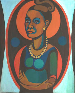 Faith Ringgold: Early Works #25, <EM>Self-Portrait</EM>, 1965© Faith Ringgold 1965