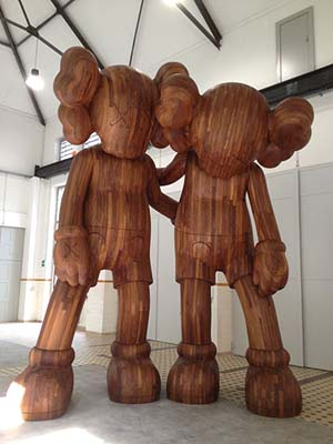 "KAWS: <EM>ALONG THE WAY</EM>, 2013Wood216"" by 176"" by 120""Photo: Mary Boone Gallery"