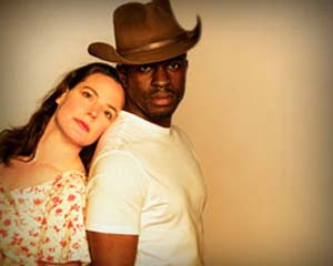 <P>Danielle Skraastad and Gbenga Akinnagbe in <EM>The Rainmaker</EM>Photo: The Old Globe TheatreSan Diego, California</P> • <P> </P>