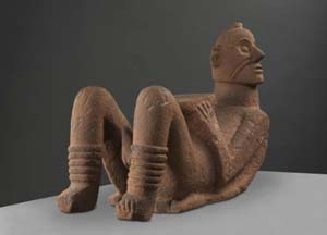 Tarascan, Tzintzuntzan, Michoacán, West Mexico<EM>Chacmool</EM> (1200-1400) <!-- (view 1) -->stone78.7 x 119.6 x 45.0 cmNational Gallery of Victoria, MelbournePresented anonymously, 1980PC181-1980