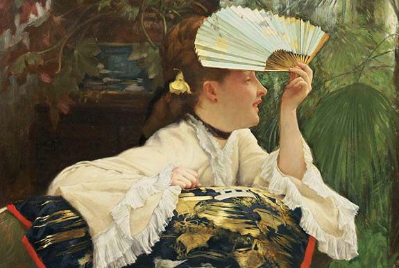James Jacques Joseph Tissot, The Fan