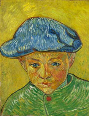 "<P><SPAN class=pie _extended=""true"">Vincent van Gogh: Portrait of Camille Roulin, 1888Oil on canvas, 16 x 12 3/4 in.</SPAN><SPAN class=pie _extended=""true"">Van Gogh Museum, Amsterdam.</SPAN></P>"