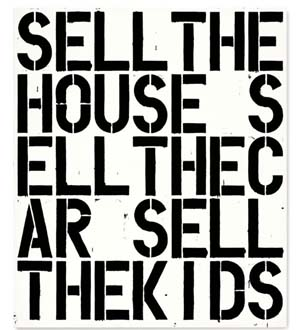 Christopher Wool: <EM>Apocalypse Now</EM>, 1988 Alkyd and flashe on aluminum and steel 84 x 72 in. (213.4 x 182.9 cm.)