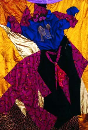 Gülsün Karamustafa: <EM>An Ordinary Love</EM> (detail), 1984Textile collage, 245 x 175 cmCourtesy of the artist and Rampa Istanbul