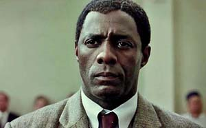 Idris Elba as former South African President Nelson Mandela in <EM>Mandela: Long Walk to Freedom</EM>